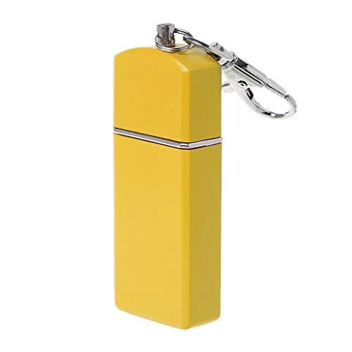 haia7k4k Multitool Schlüsselanhänger, tragbarer Mini Pocket Aschenbecher Winddichte Hüllen Schlüsselkette Outdoor Smoking Zubehör, gelb