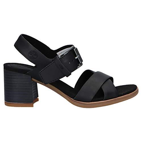 Timberland Schuhe Ferse für Damen A28V1 Tallulah May Black Full-Grain Schuhgröße 36