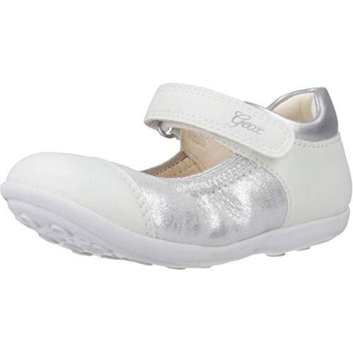Geox Baby Mädchen B Jodie B Ballerinas, Weiß (Silver/Lt Grey C0898), 23 EU