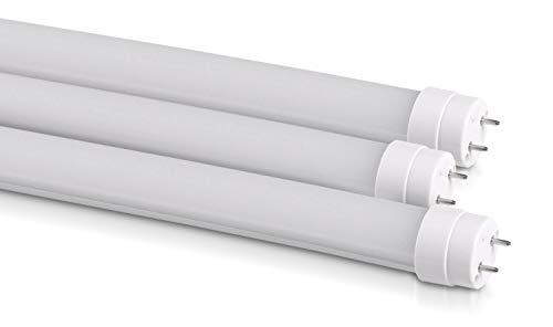 Lot de 3 : Tubes LED T8 G13 10 W | 60 cm | Mat | 4000 K (Blanc neutre) Lot de 3