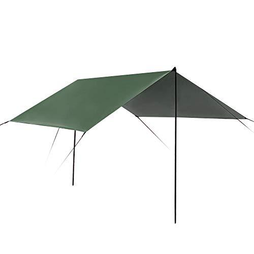 Tienda de campaña para playa, camping, toldo, verde ejército, 9.8ft x 9.8ft hamaca camping sombra tienda de campaña toldo toldo para senderismo al aire libre Picnic Pesca