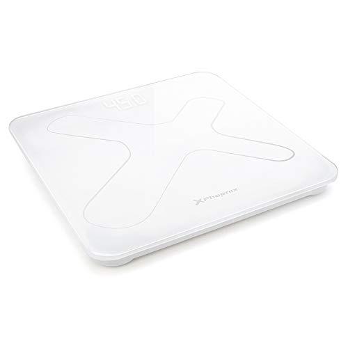 Phoenix Technologies - Báscula de baño digital Pantalla LED Hasta 180 kg blanco