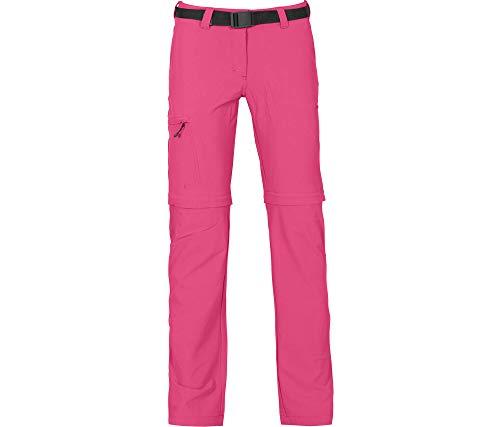 Bergson Damen Zip-Off Funktionshose Bennett (Slim fit) - Outdoorhose, Radhose, Wanderhose, Fandango pink [185], 46 - Damen