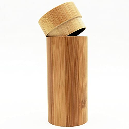 NEL Estuche para gafas, caja de gafas de sol de madera, caja de gafas de sol portátil de bambú hecho a mano