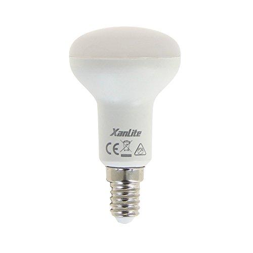Xanlite ALR50 R50 Culot Classique Angle D'Éclairage 120° -Ampoule LED 6W Équivalant À 40W, Intensité De 470 Lumens-Lumière Blanche Chaude-ALR50, Plastique + Aluminium, E14, 5 W, 2700 K