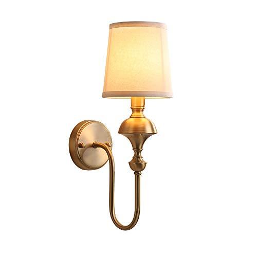 ZTKGB wandlamp van Chinese koper, eenvoudige woonkamer, Europese wandlamp, slaapkamer, trappen, hal, wandlamp van koper