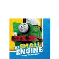 ONE STOP Thomas The Tank Engine Beverage Napkins 16 Count Birthday Party Supplies