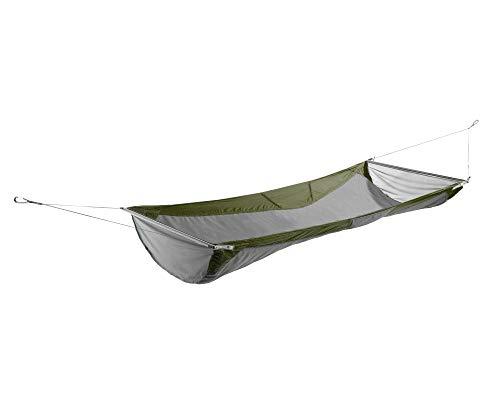 ENO, Eagles Nest Outfitters Skyloft Hamaca con modo plano y reclinable, color verde oliva/gris