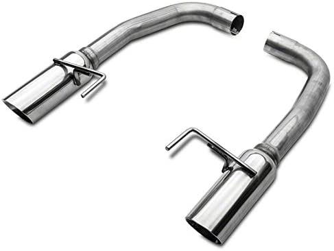 SR Performance Muffler Delete Axle-Back Exhaust with Polished Tips for Ford Mustang 2015-2017