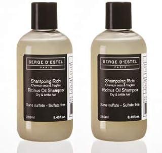 Champu Sin Sulfato Aceite de Ricino 2x 250ml. Cabello Secas Pelos Rizados Fràgil. No Probado en Animales