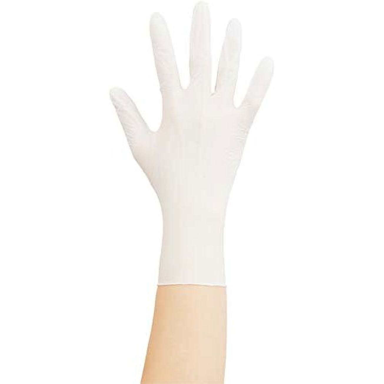 道徳クラブイノセンス川西工業 ニトリル手袋#2044粉付 白M 100枚×10