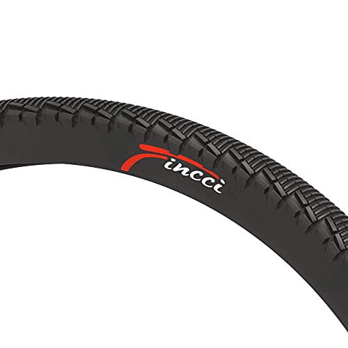 Fincci Pair 26 x 1.95 Inch 53-559 Slick Tyres with 2.5mm Antipuncture Protection 60 TPI for Cycle Road Mountain MTB Hybrid Bike Bicycle (Pack of 2)