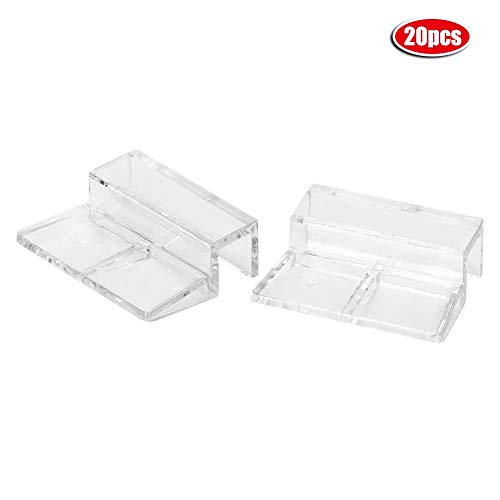 20 Stks Aquarium Glas Cover Clip Acryl Universele Deksel Clips voor Rimless Aquariums Clear Kleur Acryl Aquarium Glas Cover Houder, 5mm