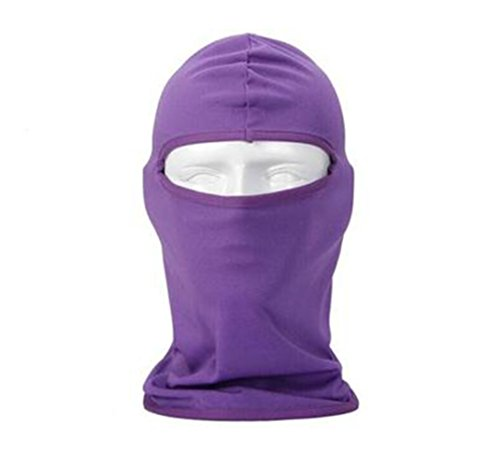 Black Temptation Al Aire Libre de fantasía pasamontañas sombrerería máscara Facial para esquí de Ciclismo de Snowboard, Morado
