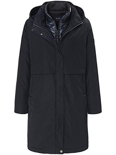 Basler Damen Thermofleece-Mantel mit Kapuze und Reißverschluss
