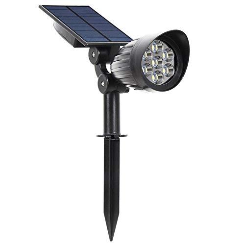 Decorativa Iluminación de paisaje 5W LED con energía solar controlado por la luz del césped Luz impermeable al aire libre Patio Lámpara de pared 7 del paisaje, luces