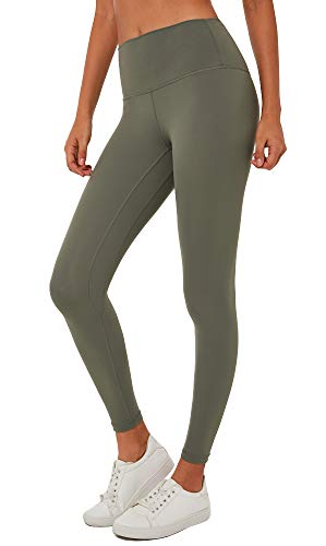 Lavento Women's Buttery Soft High Waisted Yoga Pants 7/8 Length Workout Leggings - green - Small