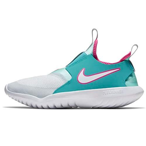 Nike Kids' Grade School Flex Runner Running Shoes (4, Aqua/Pink)
