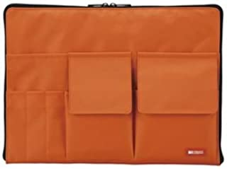 (業務用セット) リヒトラブ バッグ・イン・バッグ A4サイズ A-7554-4 橙 1個入 【×2セット】