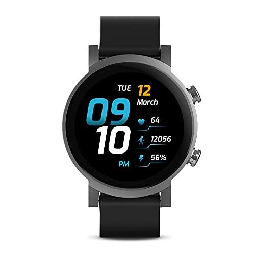 TicWatch E3 Smartwatch für Herren Wear OS von Google mit Qualcomm Snapdragon Wear 4100+ Dual-System-Plattform Google Pay GPS Herzfrequenzüberwachung Stressmanagement iOS und Android kompatibel