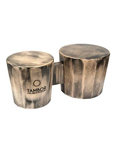 Cajon Bongò Artigianale Professionale Tambor colore Bianco Sfumato Nero interamente in legno made in Italy 100%