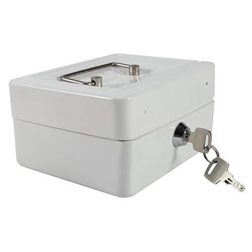 con 2 llaves 6 compartimentos Diseño Caja de seguridad Caja de seguridad Ecológico, para almacenamiento extra de efectivo(Pequeño blanco)