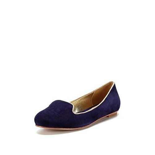 Elaine Turner Women's Blake Cobalt Blue Suede Ballerina Loafer Flat - M - 6.5