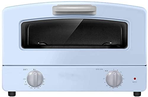 HYCy Horno halógeno 12L Mini Horno-sobremesa Horno-cajón Parrilla Doble Tubo de Vidrio de Cuarzo Calefacción -1000W Potencia de cocción - Rosa Azul (Color: Rosa)