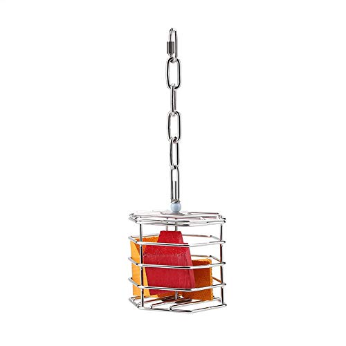 HEEPDD Parrot Foraging Toys, Pet Bird Cage Feeder Hanging Toys Bird Intelligence Growth Cage with Knots Blocks for Cockatiel Budgie Parakeet
