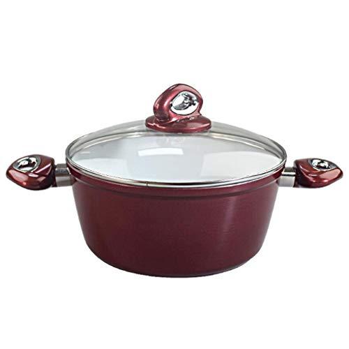 Platte bodem pot keramische wijn rood dik antiek grote capaciteit hoge temperatuur kok stoofpot vuur huis gasfornuis universeel 11 * 24cm MUMUJIN