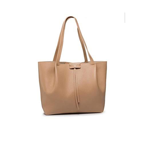 PATRIZIA PEPE - Borsa shopping in pelle Donna 2V8895 A4U8N P-E 2021 - Beige