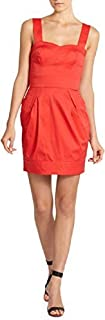French Connection Potter Red Cotton Strappy Sleeveless Dress $178!