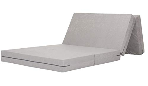 Gigapur 29074 Visco Luxus - Colchón Plegable (90 x 200 cm, soporta hasta 90 kg, Incluye Funda de Transporte)