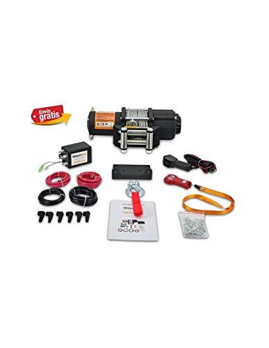 Grandmaster - Cabrestante Electrico 12v Winch 2045Kg con Mando Inalámbrico Placa de Montaje