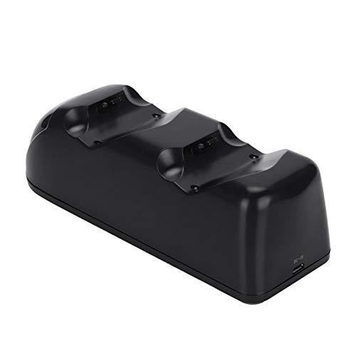 FOLOSAFENAR Cargador con indicador de Carga LED USB Gamepad Durable 2 Puertos, para PS4