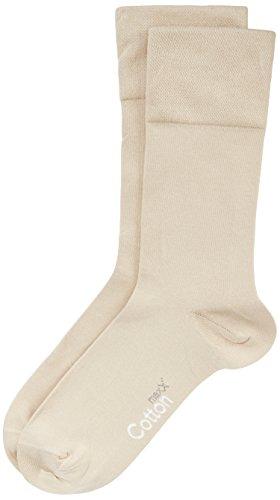 Nur Der Herren Cotton maxx Komfort Socken, Beige (leinen), 39/42 (39-42)