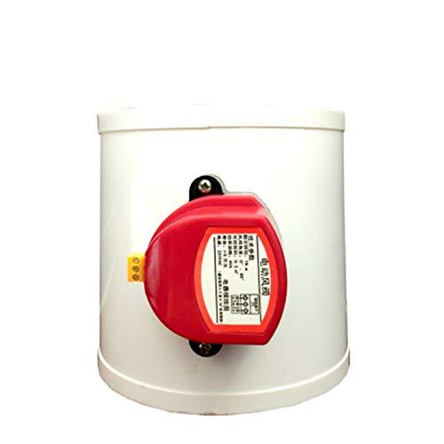 YUNJINGCHENMAN Válvula de Control del Volumen del conducto de Aire del conducto de Aire de 220V PVC PVC PVC PVC 75/110/160 / 200m M válvulas para la tubería de ventilación 24V 12V