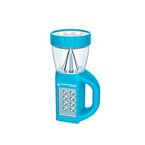 LED Lantern Flashlight Combo- 3-in-1 Lightweight Lamp with Side Panel Light- Portable for Camping, Hiking & Emergencies by Wakeman Outdoors (Blue)