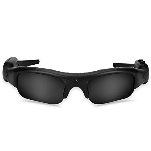Topiky Brille Kamera, Outdoor-Sport 5MP/30fps 1080P HD 4: 3 USB Sonnenbrille Kamera Videoaufzeichnung Aufnahme Camcorder für Outdoor-Aktivitäten, Radfahren, Skifahren