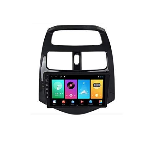 Yuahwyehe Android Autoradio,2 Din Autoradio Mit Navi Für Chevrolet Spark 2010-2014 Unterstützt Touchscreen GPS Navigation Radio Bluetooth Park Kamera Lenkrad Bedienung,M100