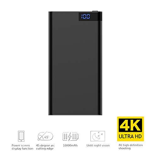 Mobiele Powercamera, 2Xusb 10000Mah Powerbank Draagbare Oplader Super Bright, Snelladende Mobiele Telefoon, Tabletcamera, Nachtzicht, Zwart