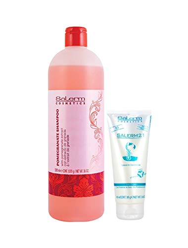 Salerm Pomegranate Champu 1000ml + Salerm21 Acondiconador Proteina de Seda 100ml