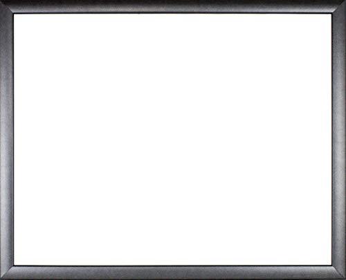 Bilderrahmen Oder aus Massivholz 60 x 42 cm in Farbe Granit farbig lackierter Wechselrahmen mit Austattung Acrylglas entspiegelt 2mm