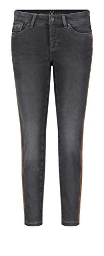 MAC Jeans Dream Slim Velvet Chain Vaqueros, Negro (Black Slight Use Wash D983), W23/L27 (Talla del Fabricante: 00/27) para Mujer