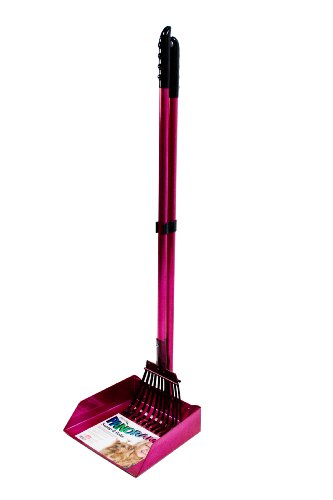 Flexrake 68AR Raspberry Panorama Large Dog Scoop and Rake Set with...