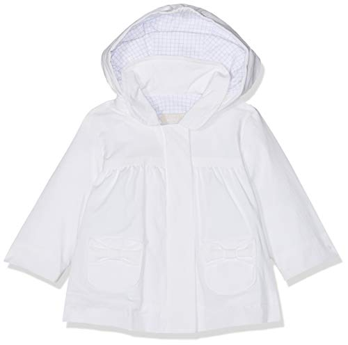 Chicco Chicco Baby-Mädchen Giubbino Con Cappuccio Staccabile Regenjacke, Weiß (Bianco 033), 68 (Herstellergröße: 068)