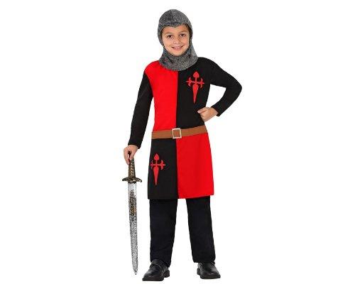 Atosa-23463 Atosa-23463-Disfraz Caballero Cruzadas-Infantil 7 a 9 NIño, Color negro, 7-9 años (23463)