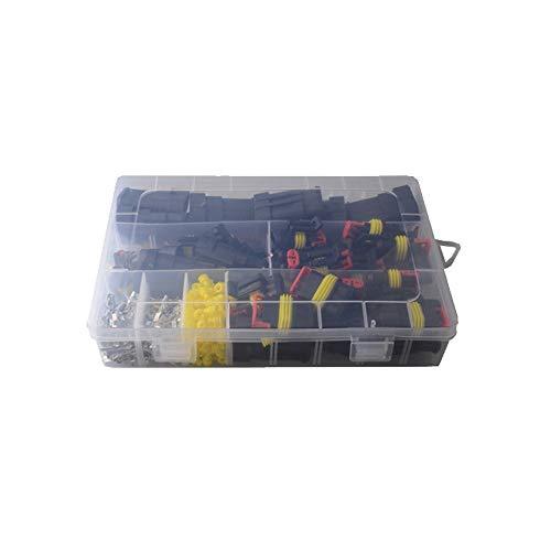 Kfz-wasserdichter Steckverbinder 26 Sätze Elektrischer Kabelstecker Stecker 1-4 Pin Way Plug Kit