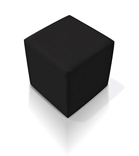 moebel-eins KUBUS Sitzwürfel Bandscheibenhocker Sitzhocker Fußhocker in schwarz 50x45x45 cm, schwarz