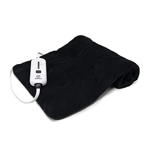 iReliev Weighted Moist/Dry Heating Pad 24' x12' for Pain Relief and Cramps | 3 Electric Heat Settings